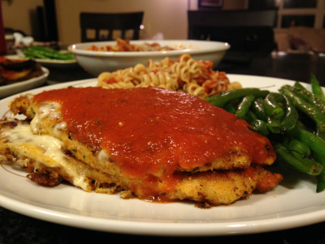 Chicken parm cover