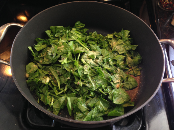 Spinach cooking